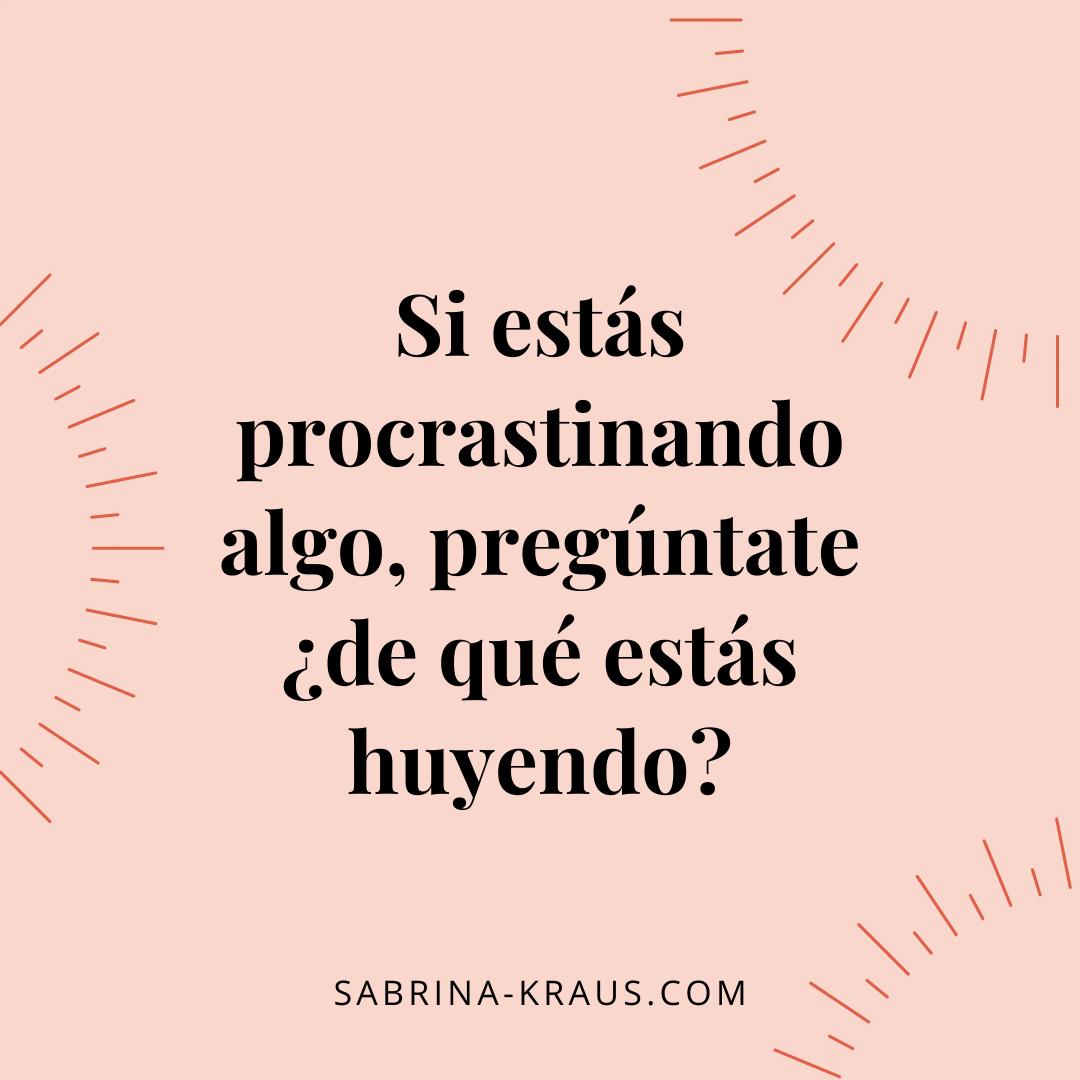 ¿Estás procrastinando algo?