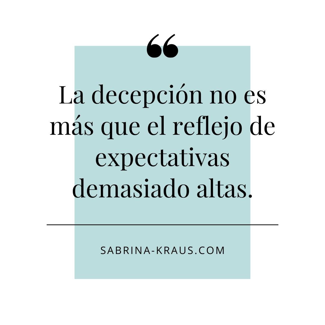 ¿Tienes altas expectativas?